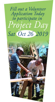 Fill out a volunteer application today to participate in Project Day